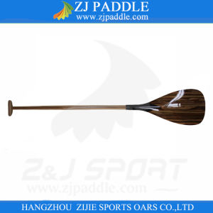 2016 New Carbon Fiber Outrigger Paddle with Wooden Veneer