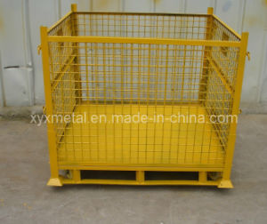 Stackable Roll Storage Rack Folding Stacking Stillage with Wheels pictures & photos