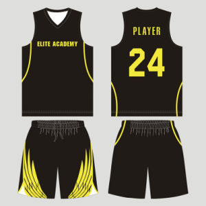 Customized Sublimated Reversible Basketball Uniform for Team Players pictures & photos