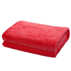 Stock Red Color Flannel Blanket 200*230 pictures & photos