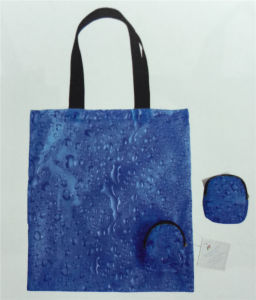 Folding Blue Polyester Bag Yx-160