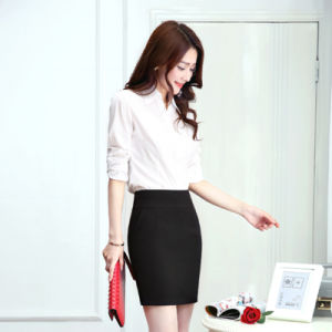 Wholesale OEM Hot Girl Sexy Basic Short Skirts Banded Waist Stretch Knit Lightweight Solid Color Hip pictures & photos