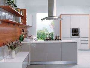 White Shinning Colour UV Kitchen Cabinet (ZX-020) pictures & photos