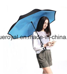 New C- Shaped Handle Reverse/Inverted Waterproof Umbrella pictures & photos