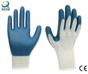 Latex Palm Coated, Smooth Finish Safety Gloves pictures & photos