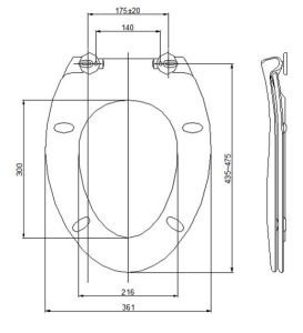 2015 Urea Original Soft Close Western Toilet Seat pictures & photos