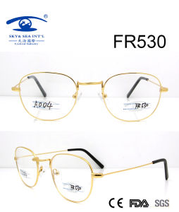 Round Shape Gold Metal Optical Frame (FR530) pictures & photos