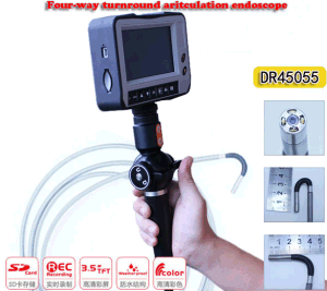 6mm Industrial Video Inspection Endoscope with 4-Way Articulation, 6m Testing Cable