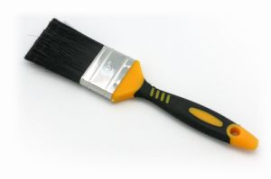 PP Filaments Double Color Yellow and Black Plastic Handle Paint Brush pictures & photos