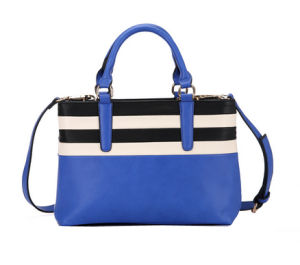 2016 Popular PU Color Combination Beach Shopping Ladies Bag (KCH247) pictures & photos