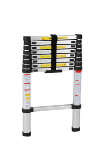En131 Approvaled 8 Step Aluminum Straight Telescopic Ladder pictures & photos