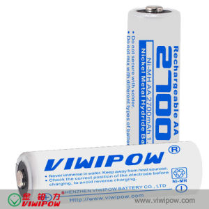 1.2V Rechargeable AA 2700mAh Ni-MH Battery (VIP-AA2700)