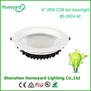 6 Inch 20W COB LED Downlight/ LED Ceiling Light