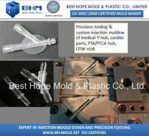 Vascular Plastic Hubs/Pta Hub/Ptca Hub/Otw Hub/Rx Hub Tooling & OEM Production pictures & photos