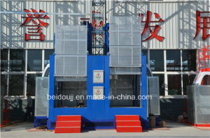 1-2t Double Cages Material Hoist for Construction pictures & photos