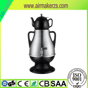 Stylish Kitchen Appliance Electric Plastic Samovar with Glass Teapot pictures & photos