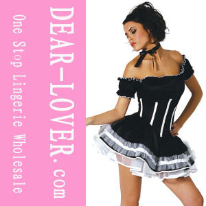 Mini Sexy PVC Maid Costume pictures & photos