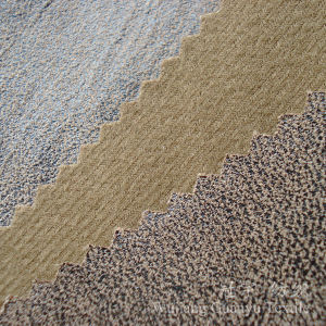Gold Stamping Compound Suede Leather Fabric for Sofa pictures & photos