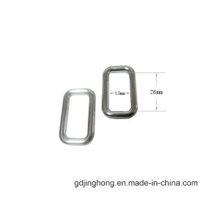 Silver Plated Zinc Alloy Customized Square Metal Buckle pictures & photos