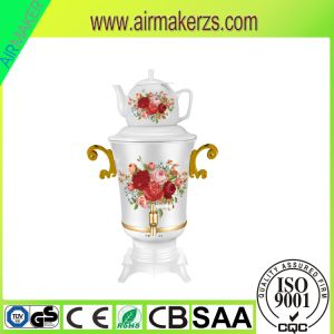 Russian Stainless Steel Samovar with Body Flower Painting pictures & photos