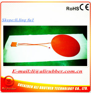 24V 250W Diameter 250*1.5mm Silicone Electric Round Flexible Heater pictures & photos