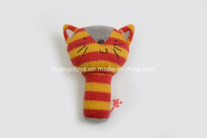 Knitting Fabric Baby Hand Rattle Toy pictures & photos
