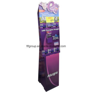 Custom Free Standing Cosmetic Cardboard Display Floor Cardboard Display Rack Cosmetic Paper Display pictures & photos