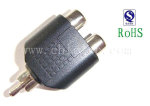 RCA Plug to 2RCA Jacks in China pictures & photos