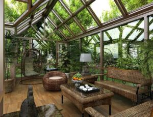 Best Price Aluminum Prefabricated Glass Cconservatory Winter Garden From China (TS-626) pictures & photos