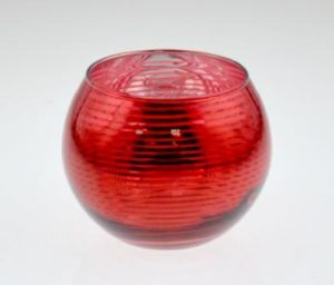 Hot Sell Red Glass Candle Holder pictures & photos