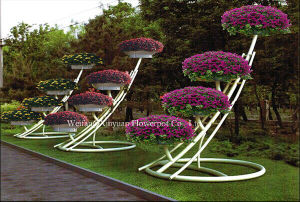 Selling High Quality Outdoor Garden Iron Art Flower Stand (A-05)