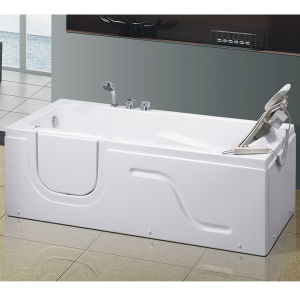 China walk in bathtub with seat china walk in bathtub for Walk in tub water capacity