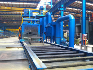 Various Section Steel Beam Cleaning Shot Blasting Machine pictures & photos
