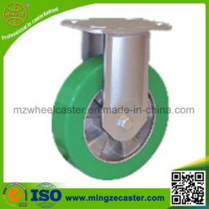 Industrial Heavy Duty Fixed Caster with Elastic Polyurethane Wheel pictures & photos