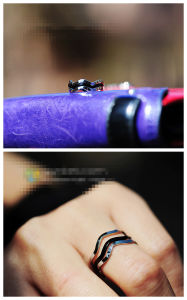 Fashion Three-Layers Alloy Ring (JZ0901)