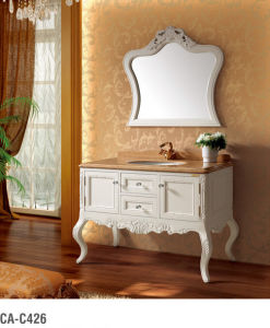Classical Solid Wood Bathroom Cabinet Ca-C426 pictures & photos