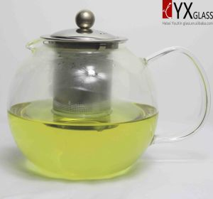 1000ml High-Borosilicate Glass Teapot with S/S Filter/Cap/Glass Tea Maker/ Glass Cap/Clear Glass Teapot Set/Glass Teaware pictures & photos
