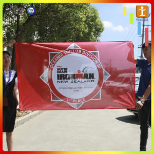Custom Outdoor Flying Polyester Satin Flag (TJ-18) pictures & photos