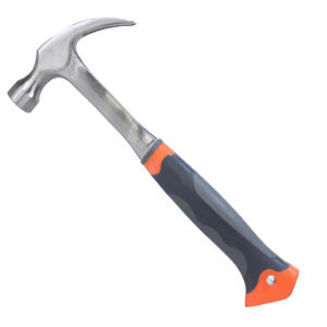 One Piece Steel Claw Hammer with Three Colour TPR Handle pictures & photos