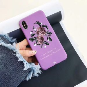 Vintage Purple Pearl Rose TPU Phone Case for iPhone X pictures & photos