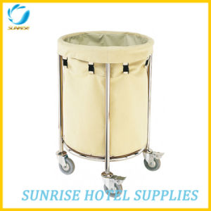 High Quality Stainless Steel Linen Trolley for Hotel pictures & photos