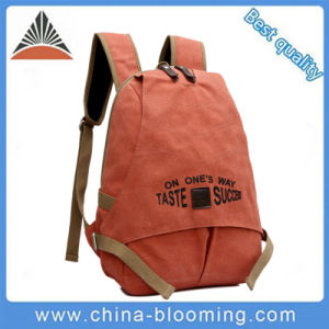 Unisex Ladies Fashion Zipper Bag Travel Hiking Canvas Leisure Backpack pictures & photos