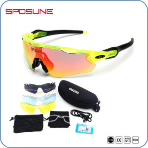 Interchangeable 5 Lens Set Comfortable Fit UV400 Protective Sports Cycling Eyewear pictures & photos