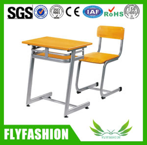 Simle School Furniture Student Single Desk with Chair (SF-07S) pictures & photos
