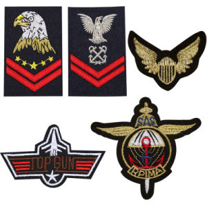 Military Rank Iron on Patches for Clothes Embroidered Us Army Airborne Special Forces Wings Star DIY Shoulder Strap Garment Badge (YB-e-025) pictures & photos