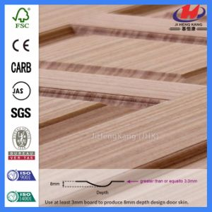 Customized Size Uncommon Slab Red Oak Wooden Door (JHK-S07) pictures & photos