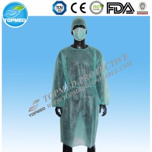 Eo-Sterilized SMS Surgical Gown Knitted Cuff for Hospital/Medical pictures & photos