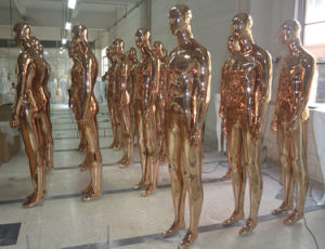 Mirror Golden Male Chrome Mannequin for Fashion Display pictures & photos