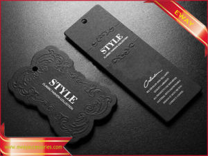 Black Paper Hang Tag with Red Foil for Clothing pictures & photos