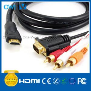 HDMI Plug-VGA+3 RCA Plug HDMI Cable pictures & photos